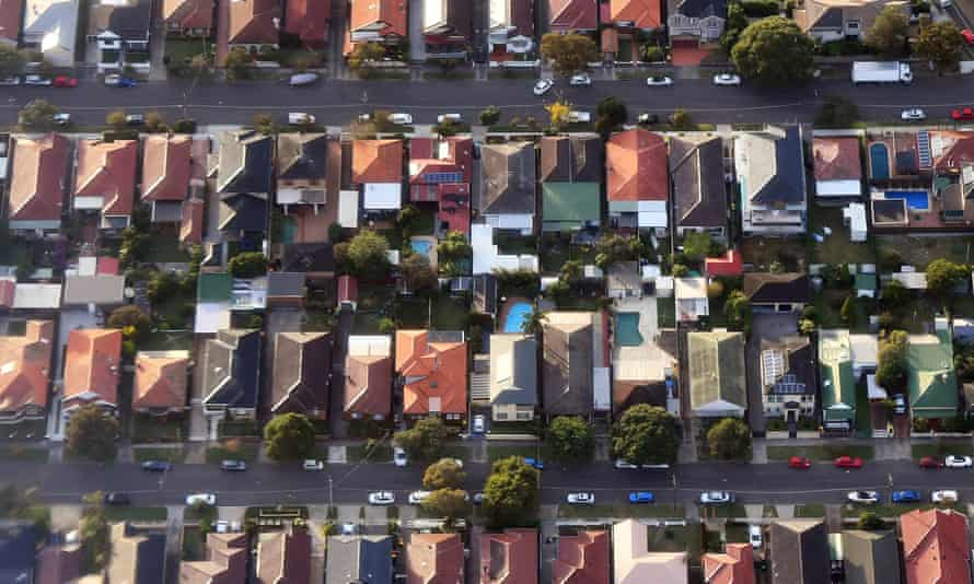 Homes from the air in Sydney