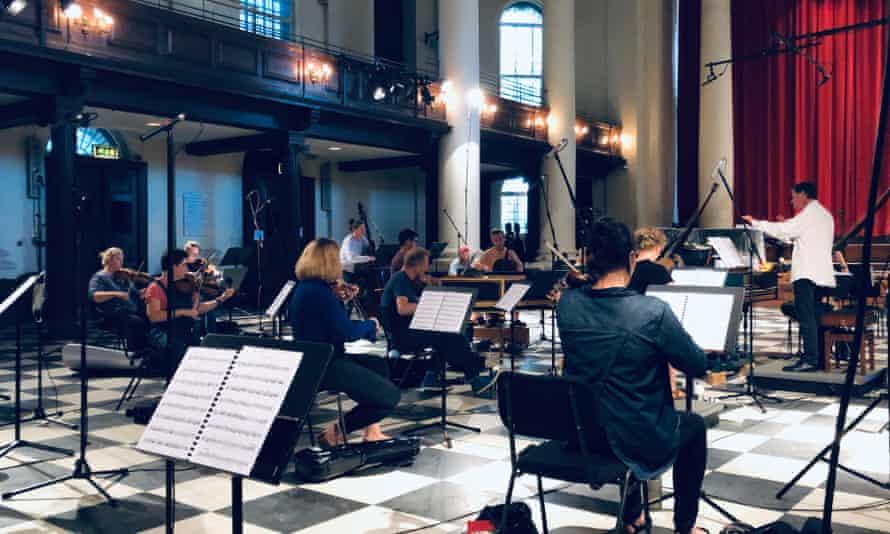 The English Concert recording Rodelinda at St John's Smith Square, September 2020.