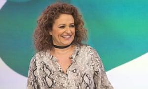 Refusing to shed the snakeskin: Nadia Sawalha on ITV's Loose Women.