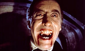 Christopher Lee as Dracula in The Horror of Dracula.