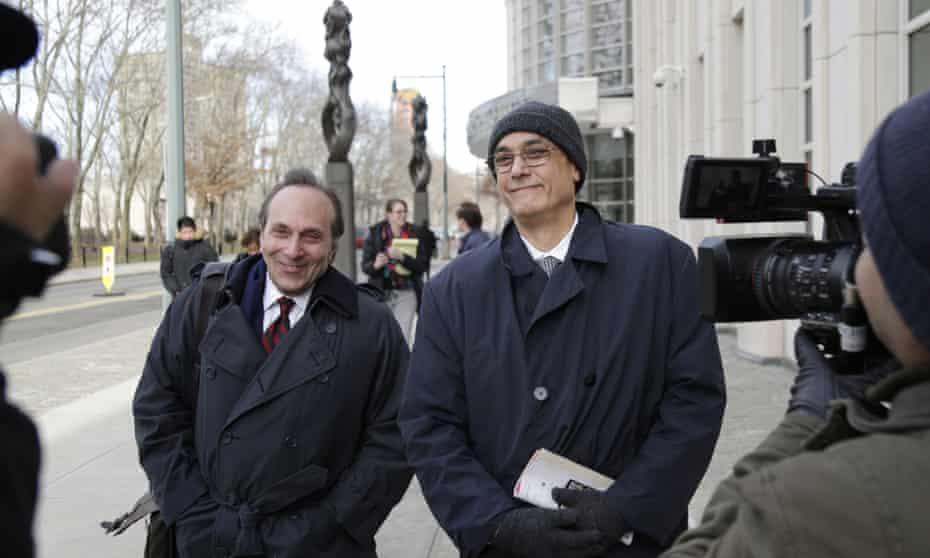 Manuel Burga leaves court in Brooklyn, New York Tuesday.