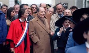 Mitterrandin 1992.