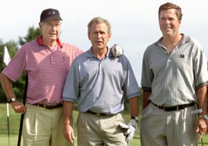 The political dynasty of George Sr, George Jr and Jeb in 2001.