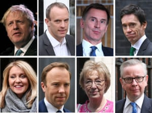 Eight of the Conservative leadership candidates.