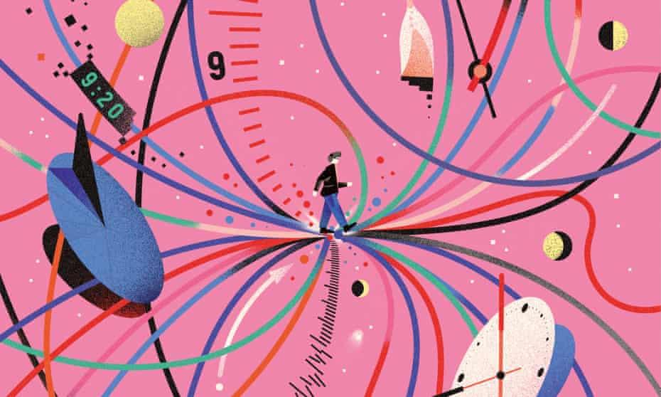 Time flows. It moves ever forwards. Or does it?Illustration by Bratislav Milenković