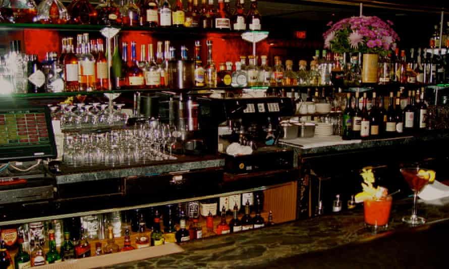 Bar counter at Durant's, Phoenix, Arizona