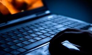 Pornographic scenes on laptop computer.