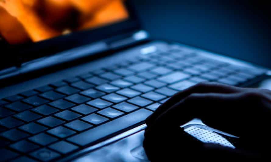 Pornography on laptop computer