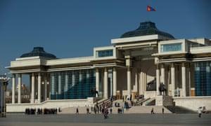 Parliament building, Ulan Bator, Mongolia.