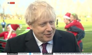 Boris Johnson speaking to Sky News