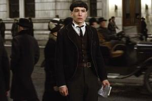 Ezra Miller as Credence Barebone.