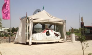 One of the cars at the Museum of Holy Defence and Promotion of Resistance Culture in Tehran.