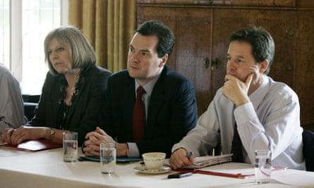 Theresa May, George Osborne and Nick Clegg