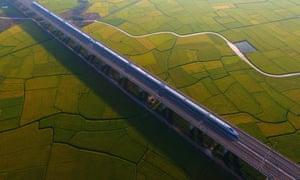 High speed railway china farmland agriculture urbanisation