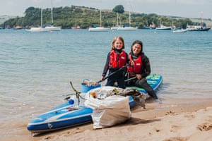 Anna and Ella Turns with collected plastic