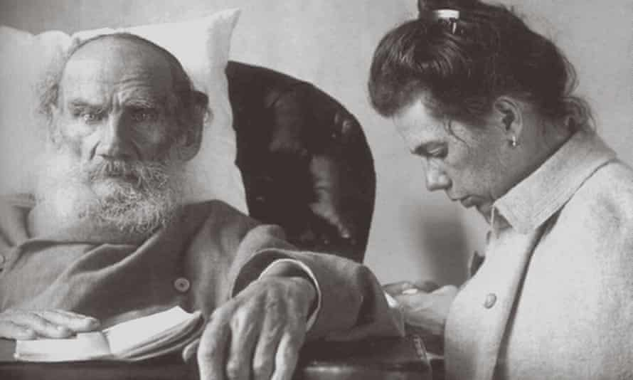 A sick Leo Tolstoy with daughter Tatyana in Gaspra on the Crimea.