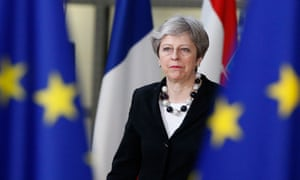 Theresa May arrives for the second day of the European Council meeting in Brussels, Belgium, 23 March 2018.