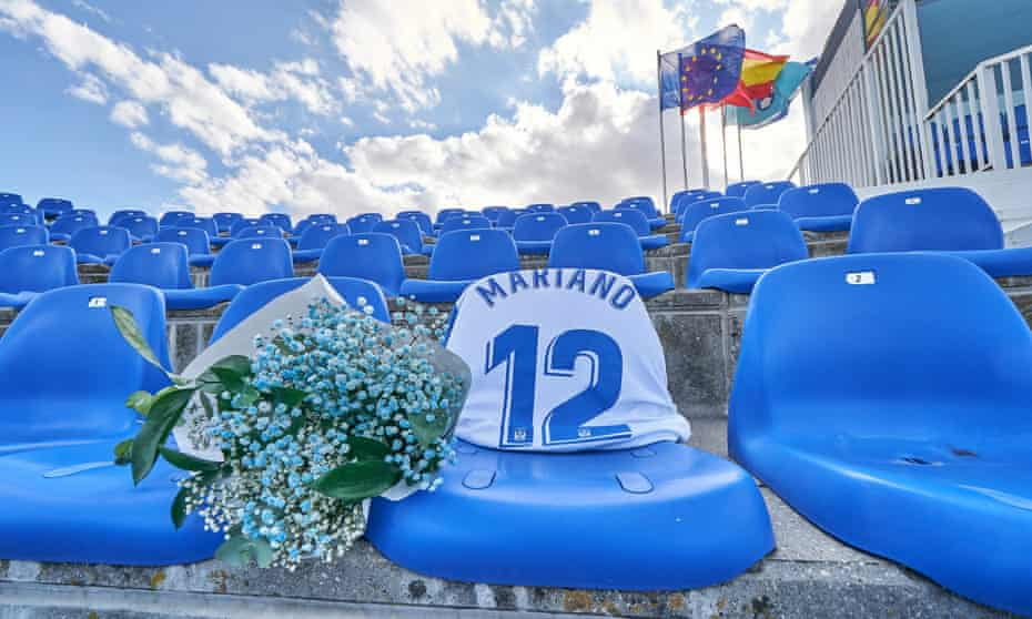 A tribute left to Mariano, a Leganés season ticket holder who died in the months that La Liga action was suspended.