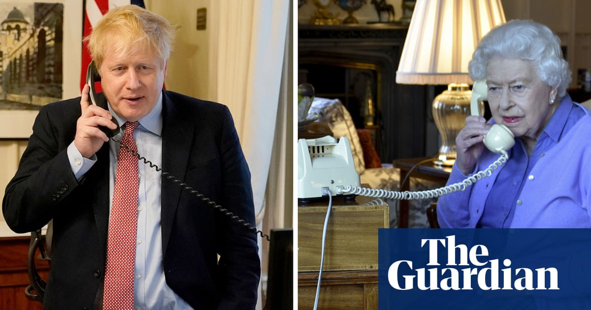 Queen holds audience with PM by phone while Prince of Wales self-isolates with Covid-19 | UK news | The Guardian