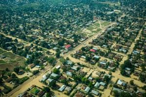 Flying over Bandundu, the Democratic Republic of the Congo