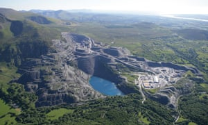 Penrhyn slate quarry in Bethesda, north Wales.