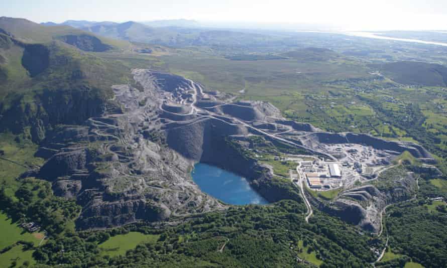 Penrhyn slate quarry in Bethesda, north Wales.