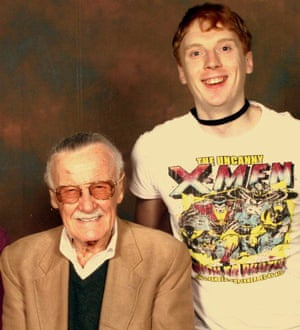 Stan Lee and Marc Casson at a convention in London