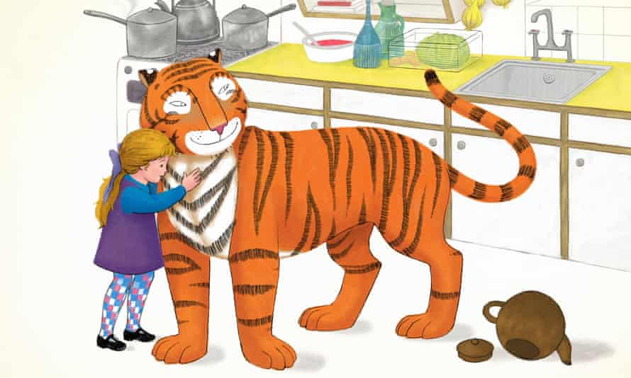 A still from the new adaptation of Judith Kerr's The Tiger Who Came to Tea.