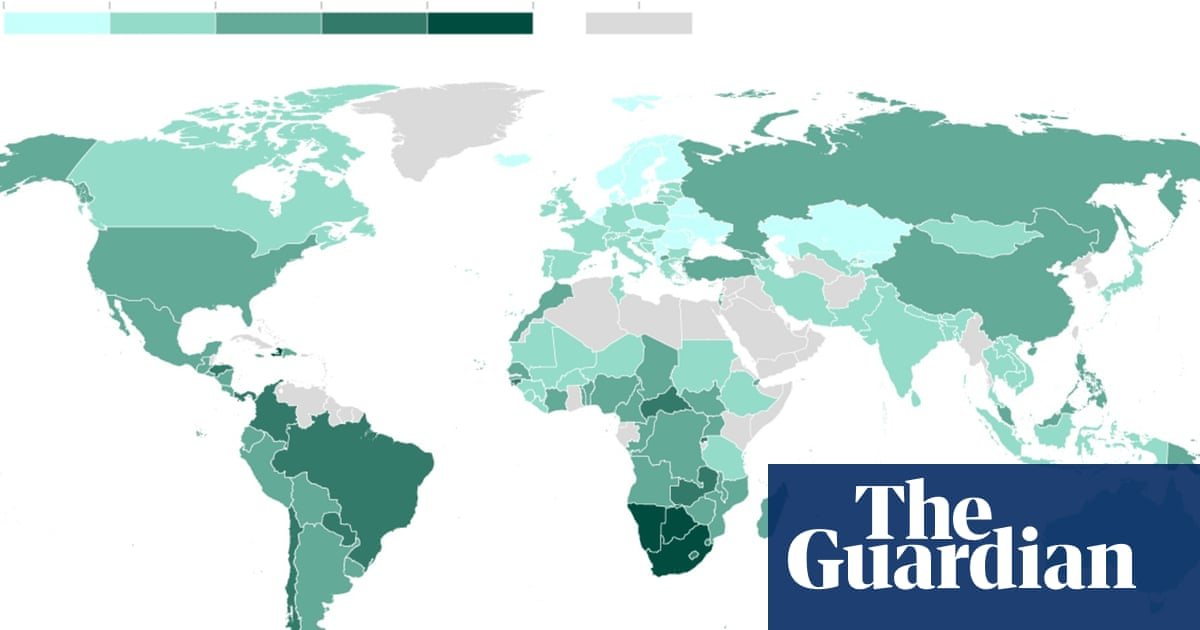 Inequality index: where are the world\'s most unequal countries ...