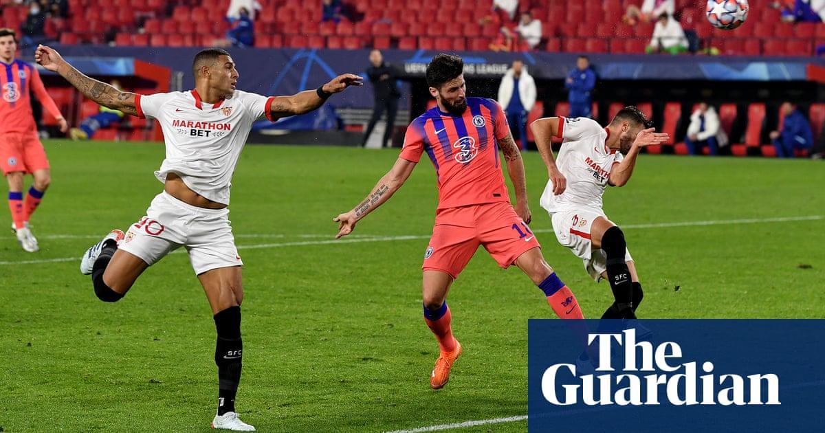 Olivier Girouds fantastic four flattens Sevilla as Chelsea claim top spot