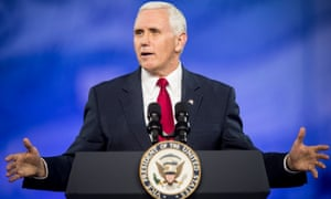 Mike Pence speaks at CPAC in February.