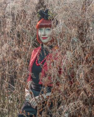 Fashion historian Amber Butchart, photographed in Swindon, Wiltshire