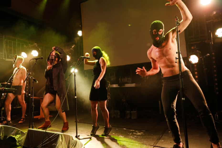 Pussy Riot performing at Summerhall in Edinburgh