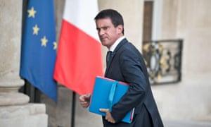 Manuel Valls at the Elysee Palace in Paris