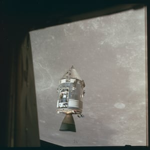 Apollo 15 CSM Endeavor orbits above the moon