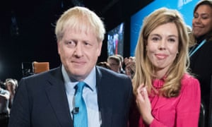 Boris Johnson and Carrie Symonds last October.