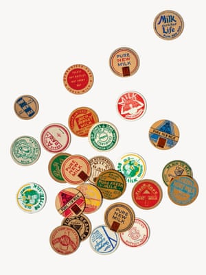Milk-bottle tops (England, 1950s), 1½ in. (3.8 cm) diameter, collection of Annie Atkins.