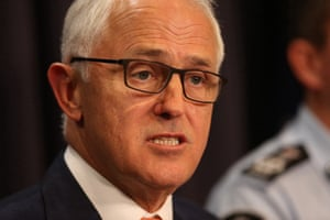 Malcolm Turnbull at a press conference announcing the arrest of a 42-year-old man in the NSW town of Young.