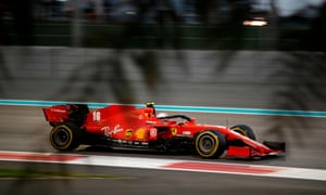 Ferrari's Charles Leclerc drives