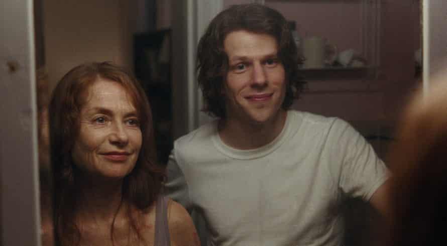 Isabelle Huppert with Jesse Eisenberg as her elder son, Jonah.