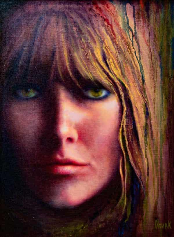 Self-portrait, oil on canvas, by Kim Novak.