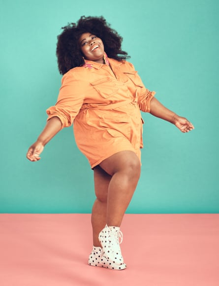 Stephanie Yeboah - shot for OM in South London. Plus-size style blogger, fat acceptance advocate.