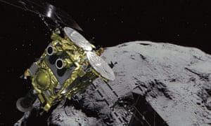 Ryugu asteroid and the probe Hayabusa2.