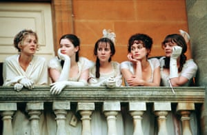 Talulah Riley (second left) as Mary Bennet in Pride & Prejudice (2005)