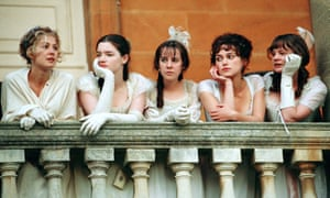 The Bennet sisters (from left): Rosamund Pike as Jane, Talulah Riley as Mary, Jena Malone as Lydia, Keira Knightley as Elizabeth and Carey Mulligan as Kitty in Joe Wright's Pride and Prejudice (2005).