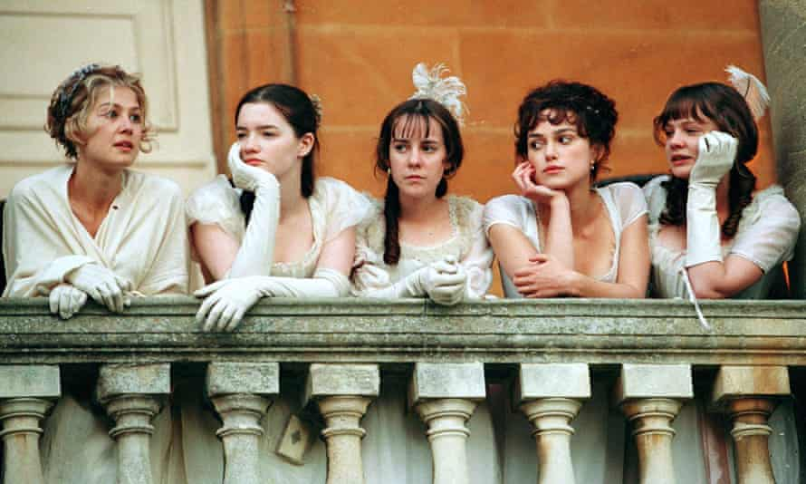 The Bennet sisters, played by Rosamund Pike, Talulah Riley, Jena Malone, Keira Knightley and Carey Mulligan in the 2005 adaptation of Jane Austen's Pride and Prejudice