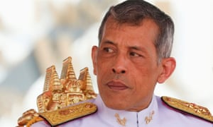 Thailand's King Maha Vajiralongkorn Bodindradebayavarangkun watches the annual Royal Ploughing Ceremony in central Bangkok, Thailand