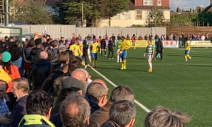 Haringey Borough and Yeovil abandoned their FA Cup tie on Saturday.