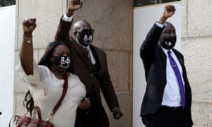 The trial of former police officer Derek Chauvin:Keeta and Philonise Floyd, George's sister-in-law and brother, leave court with their attorney Ben Crump (right). Derek Chauvin is facing murder charges in the death of George Floyd, in Minneapolis, Minnesota, last May.