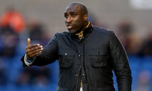 Sol Campbell, manager of Macclesfield Town